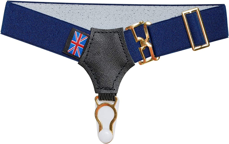 Dobell Mens Navy Pair of Sock Suspenders