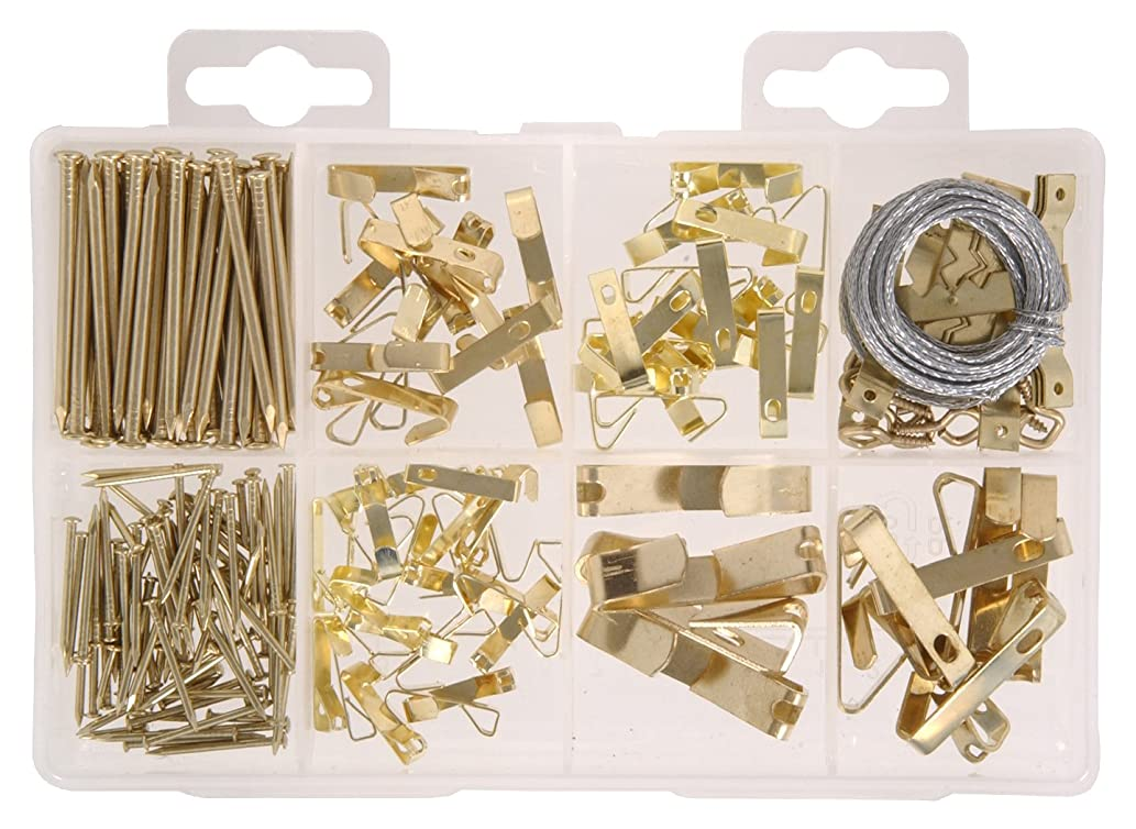 Hillman 591525 Medium Picture Hanger Assortment Kit, 200-Pack