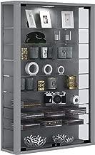 VCM 904115vitrosa Mini Vetrina a Parete Legno Argento 90x 59x 18cm