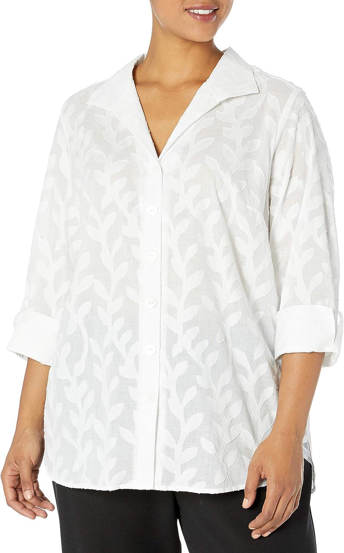 Foxcroft Women's Pandora Palm Tunic High quality new Max 59% OFF Jacquard