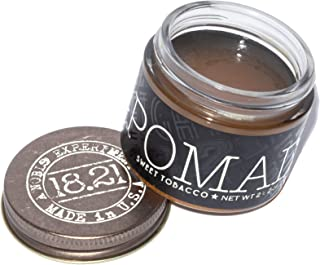 18.21 Man Made Hair Pomade for Men with High Shine Finish, Sweet Tobacco, 2 oz - Premium Non-Greasy Hair Pomades for Strai...