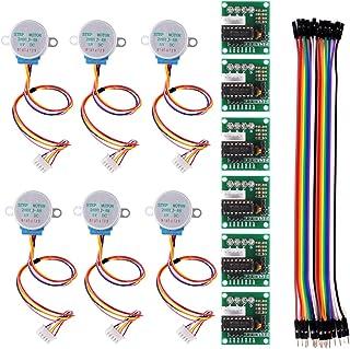 6 PCS 28BYJ-48 ULN2003 5V Stepper Motor + ULN2003 Driver Board for Arduino