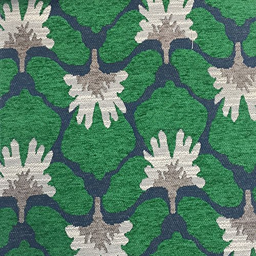 Chenille Floral Damask Fabric - 4