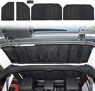 JeCar Hardtop Headliner Roof Insulation Kit Interior Accessories for 2007-2010 Jeep Wrangler JK Unlimited Sport Sahara Rubicon X, 4 Door