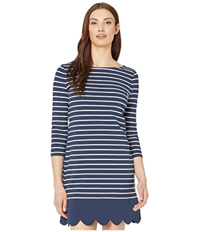 Vineyard Vines Striped Scalloped Hem Dress (Deep Bay) Women