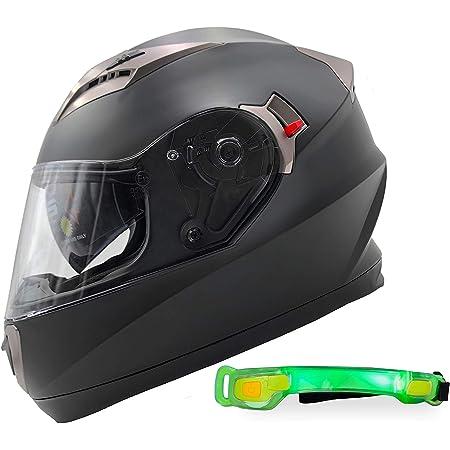 Nathut Motorradhelm Integralhelm Mit Sonnenblende Motorrad Helm Bluetooth Ready Ece Xl 60 62cm Schwarz Matt Auto