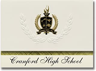 Signature Announcements Cranford High School (Cranford, NJ) Graduation Announcements, Presidential style, Basic package of...