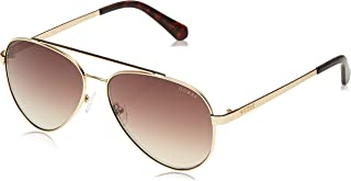 GUESS Unisex Adults' GU6918 32G 59 Sunglasses, Gold (Oro/Marrone Specchiato) - 145 mm