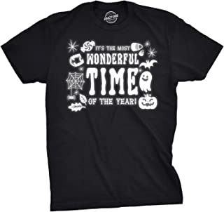 Mens Its The Most Wonderful Time of The Year Tshirt Funny Halloween Tee for Guys