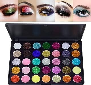 Frcolor 35 Colors Eyeshadow Palette Pigmented Glitter Eye Shadow Gel Shimmer Waterproof Long Lasting Makeup Palette