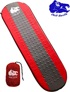 Chill Gorilla Self Inflating Camping Sleeping Pad. Portable Bed Mat for Travel, Hiking, Backpacking - Folding Inflatable Air Mattress for Camping Sleep Gear, Bag, Accessories.