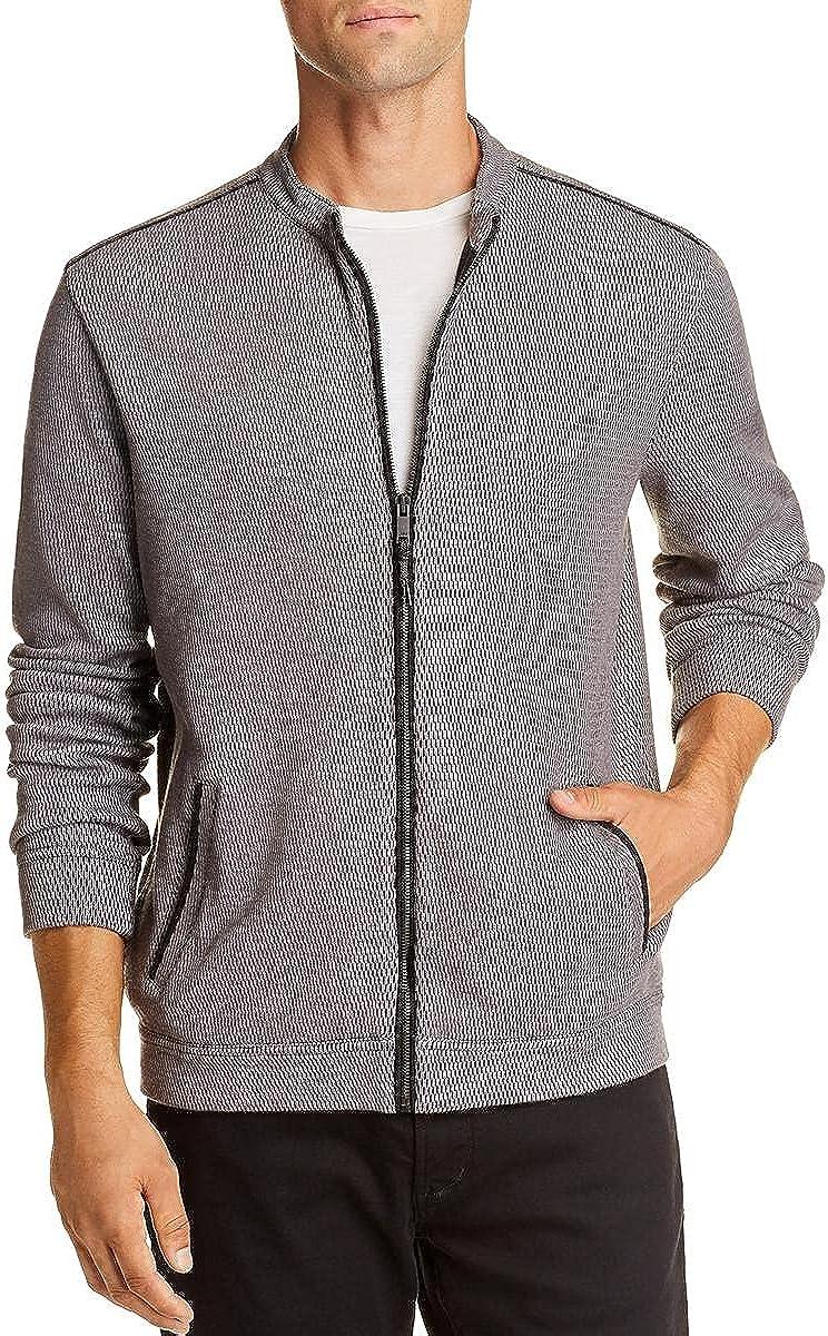 John Varvatos Star USA Mens Double-Knit Zip Front Jacket