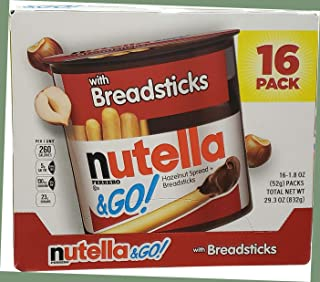 Nutella and Go Spread With Breadsticks, 1.8 Ounce (Pack of 16)