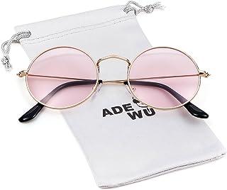 55dc84b284 ADEWU - Vintage Retro - lunettes rondes à lunettes transparentes en métal -  unisexe