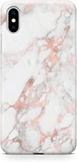 uCOLOR Case Compatible iPhone Xs Max Rose Gold Pink Marble Slim Soft TPU Silicone Shockproof Cover Compatible iPhone Xs Max(6.5
