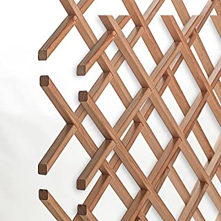 American Pro Decor 14-Bottle Trimmable Wine Rack Lattice Panel Inserts in Unfinished Solid North American Cherry