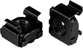 StarTech.com M6 Cage Nuts - 50 Pack, Black - M6 Mounting Cage Nuts for Server Rack & Cabinet
