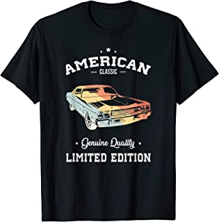 American Classic Car Limited edition Vintage Old School T-Shirt