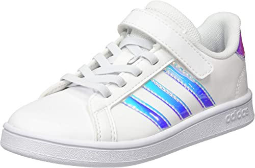 adidas grand court c bambina bianco iridiscent