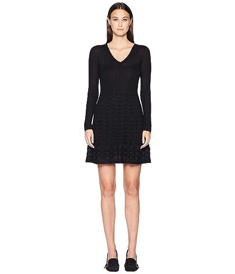 M Missoni Solid V-Neck Dress