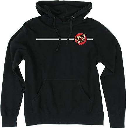 c2f770015 Santa Cruz Skateboards Classic Dot Hooded Pullover Sweatshirt (Large, Black)