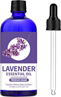 100% Pure Lavender Essential Oil (Large 5 oz) - Premium Grade Lavender Oil for Aromatherapy, Relaxation, Skin Care and Hai...