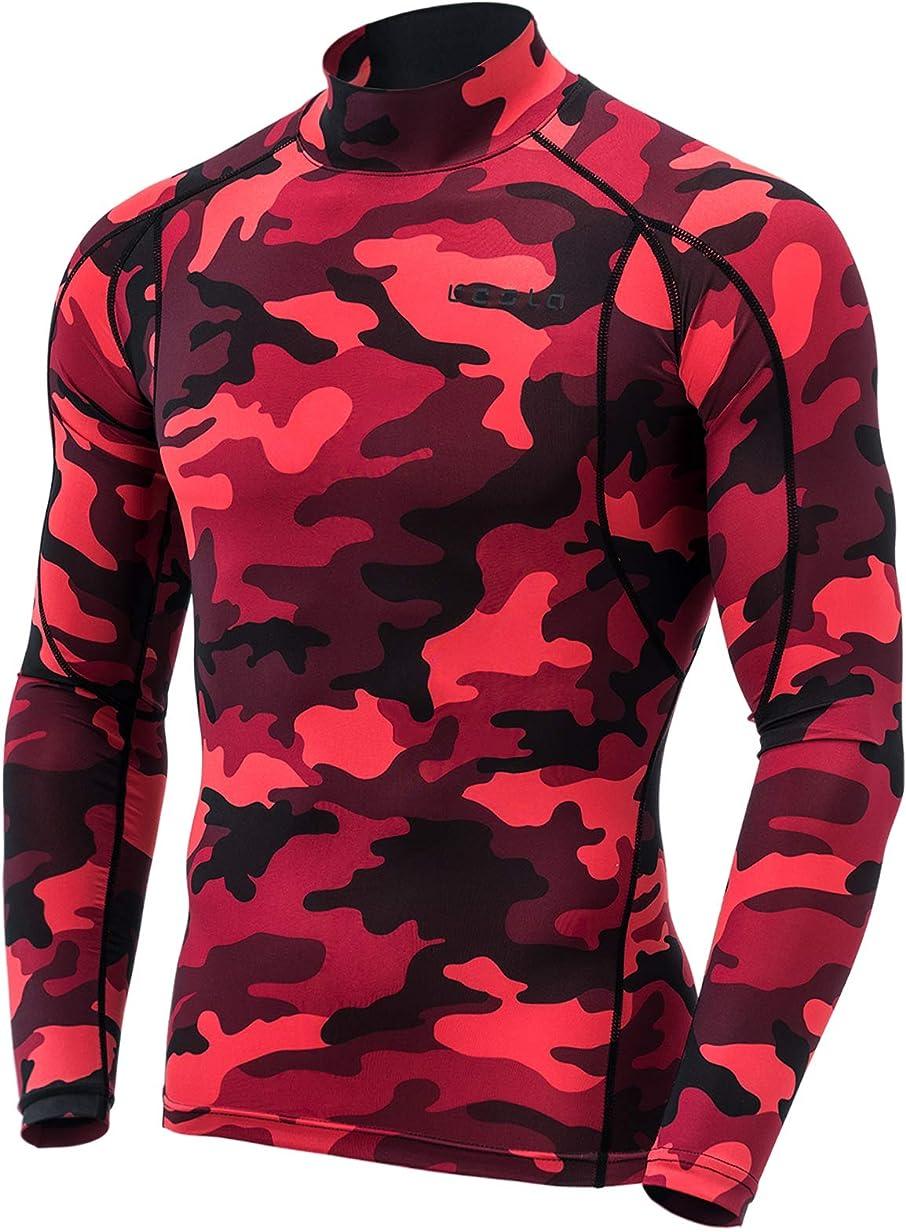 スローガン顕微鏡プーノ(テスラ)TESLA メンズ 長袖 ハイネック スポーツシャツ [UVカット?吸汗速乾] MUT