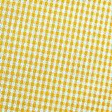 0,5m Vichy-Karo groß 5mm Stoff gelb/ weiß Meterware 100%