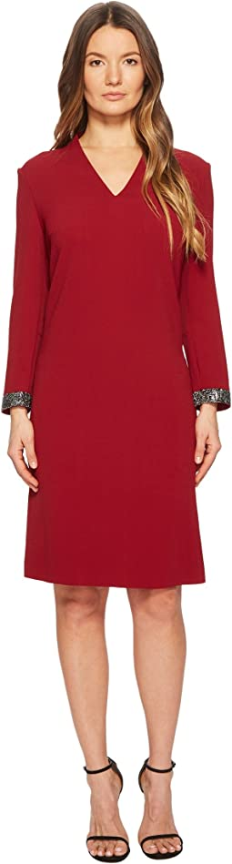 ESCADA - Duava Long Sleeve V-Neck Dress