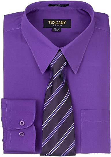 Tuscany - Camisa de vestir de manga larga para hombre, color ...