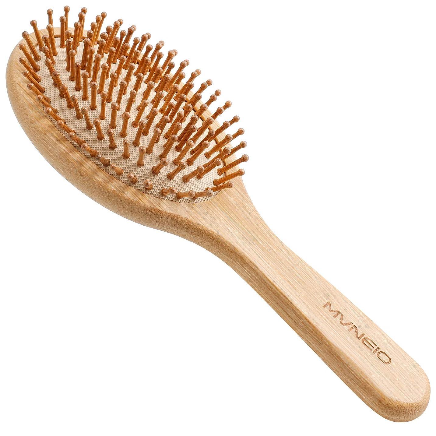 ツールテント性格ヘアブラシ 竹製櫛 くし ヘアケア 頭皮マッサージ 静電気防止 パドルブラシ 美髪ケア 頭皮に優しい メンズ レディースに適用