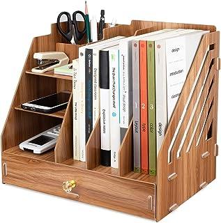 per documenti in formato A4 Portadocumenti in legno da scrivania per ufficio Xndryan libri documenti e documenti riviste