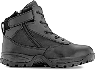 "Men's PATROL 6"" Tactical Duty Work Boot with Zipper"