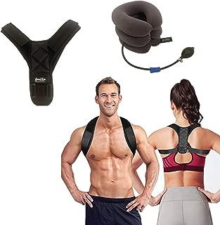 Posture Corrector for Men & Women + 1 Neck Traction Device (bonus)- Providing Pain Relief from Neck,  Back & Shoulder Support- Spine Back Straightener,  Neck Stretcher & Corrector de Postura para Mujer.