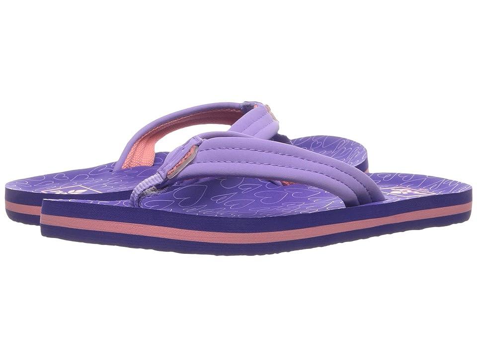 Reef Kids Little Ahi (Toddler/Little Kid) (Purple/Hearts) Girls Shoes