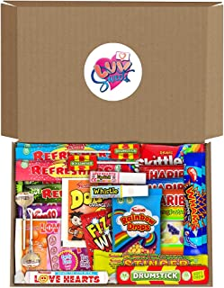 Retro Sweets Hamper Gift Box from Luv Sweets. Perfect Gift for Him & Her. Packed with Childhood Sweetshop Classics. Suitab...
