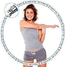 DUTISON Hoelahoep-hoelahoep voor volwassenen voor gewichtsverlies, stabiele roestvrijstalen kern met premium schuim, comfo...
