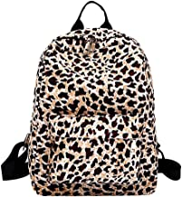 Kennedy Girl's Fashion Casual Backpack With Leopard Print Canvas Travel Backpack Lightweight School Backpack