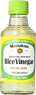 Marukan Unseasoned Rice Vinegar | Sushi Rice Vinegar | Sauces Stir Fry Dipping Marinades More 12 fl oz