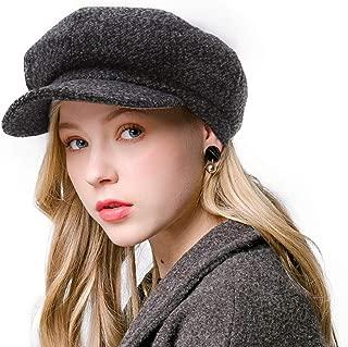 Sytaitp Womens Wool Newsboy Visor Beret Hat Cap for Women Paperboy Cabbie Hats