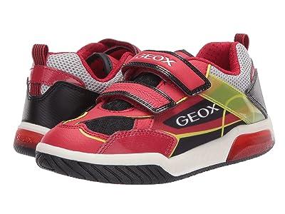 Geox Kids Inek 8 (Little Kid/Big Kid) (Red Black) Boy