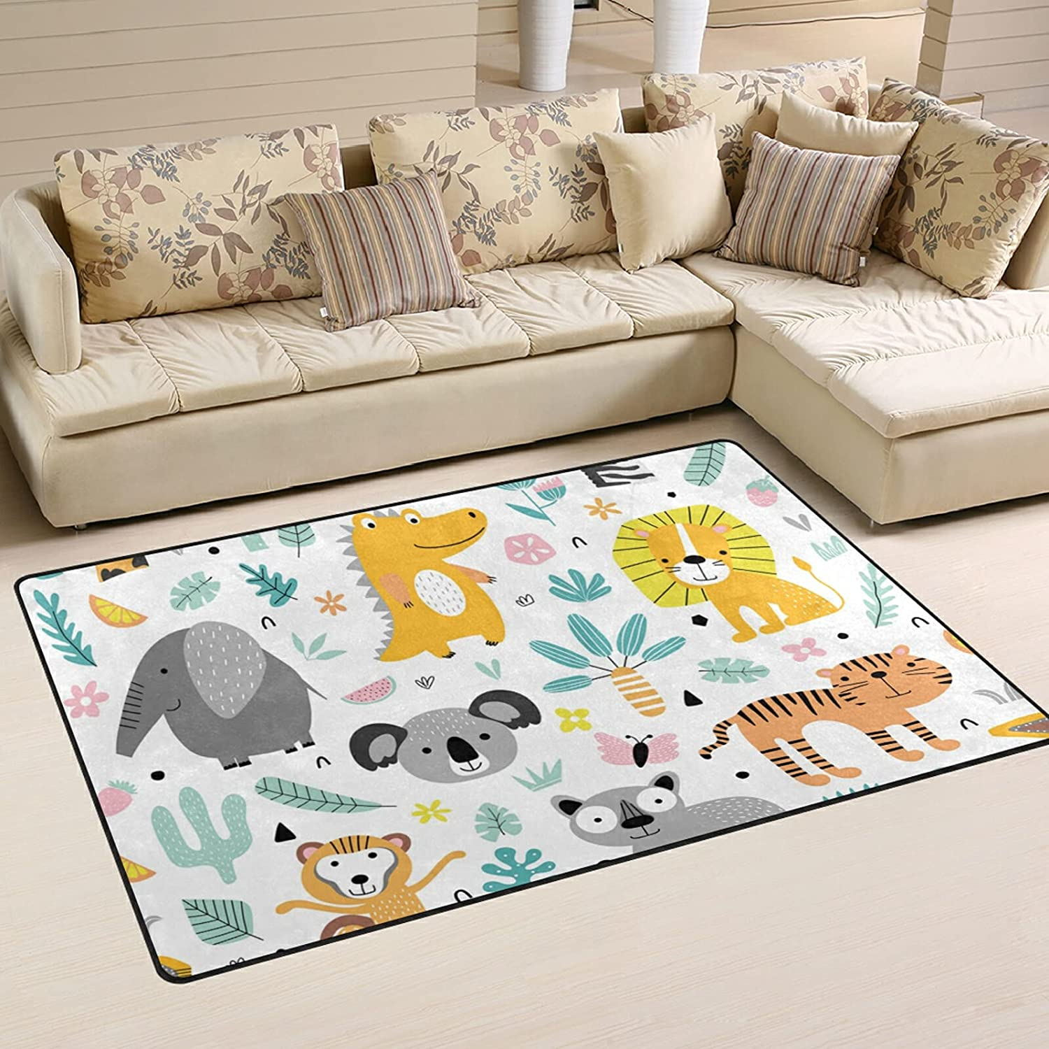 Jungle Animals Plants Large Soft Area Many Price reduction popular brands Rugs M Playmat Nursery Rug