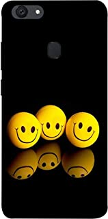 Fusion Designer Back Case Cover for Oppo F5 (Yellow Smiley Emoji Expression for Happiness)
