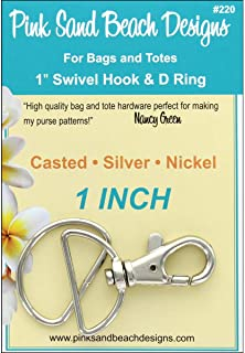 Pink Sand Beach Swivel Hook & D Ring Silver Nickel 1