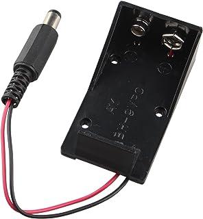 HALJIA Caja de batería de 9 V, Soporte con Enchufe Compatible con Arduino