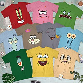 Spongebob-and-Friend Halloween Costume Group Family Squad Team Matching Cartoon Characters Outfit Short-Sleeve Shirt | Long Sleeve Shirt | Premium Short Sleeve Shirt | Hoodie | Sweatshirt | Tank-Top