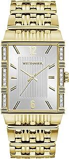 Wittnauer Laureate Men's Quartz Diamond Accent Gold-Tone Bracelet 30mm Watch