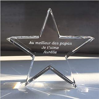 3c4eaf5e92d54 Presse Papier en Verre étoile   Idée Originale de Cadeau   Trophée étoile  en Cristal Personnalisable