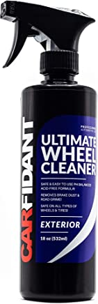 Carfidant Ultimate Wheel Cleaner Spray - Premium Rim & Tire Cleaner - Safe for all wheels and rims! - Removes Brake Dust! - Safe for Aluminum, Alloy, Mag, Chrome, Painted, Clearcoated, Polished, Plast