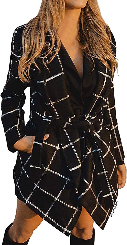 Damen Saum Wickelmantel Baumwolle Mantel Trenchcoat Mit GüRtel Lang Und Kurz Kaschmir Wrap Coat Turn Down Kragenmantel GüRtel Asymmetrischer Long Jacket 55-schwarz